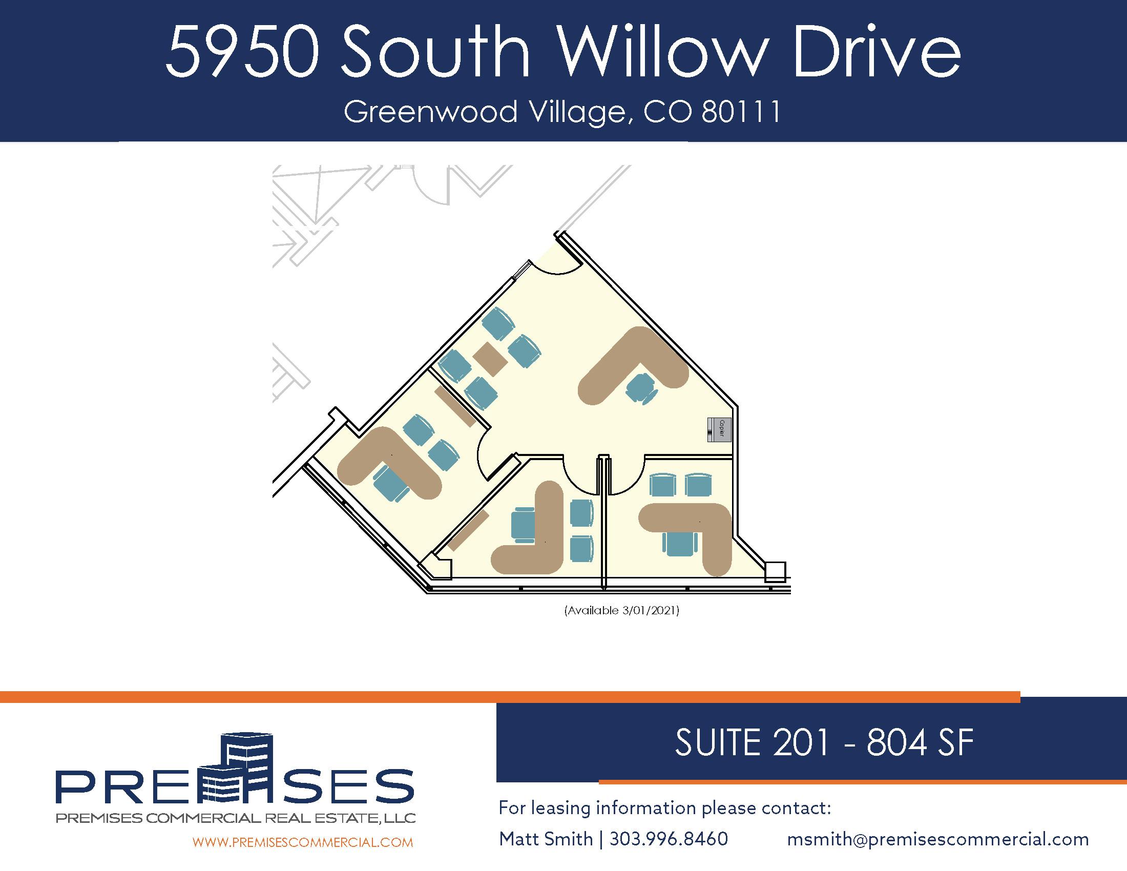 Suite 201 - 804 sf