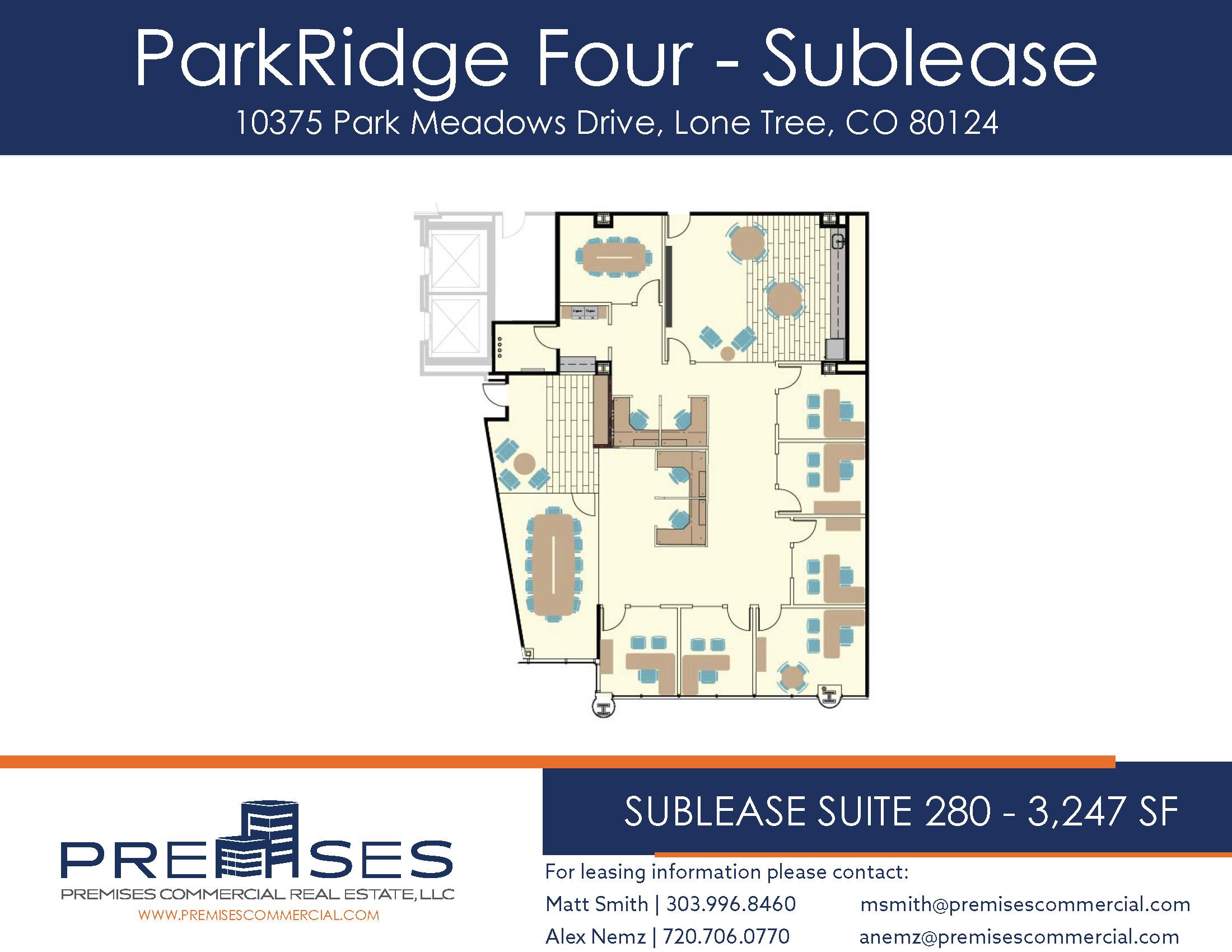 Sublease Suite 280 - 3,247 SF