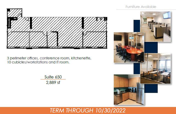 4500 S Cherry Creek Dr. - Sublease Suite 650 2,889 sf