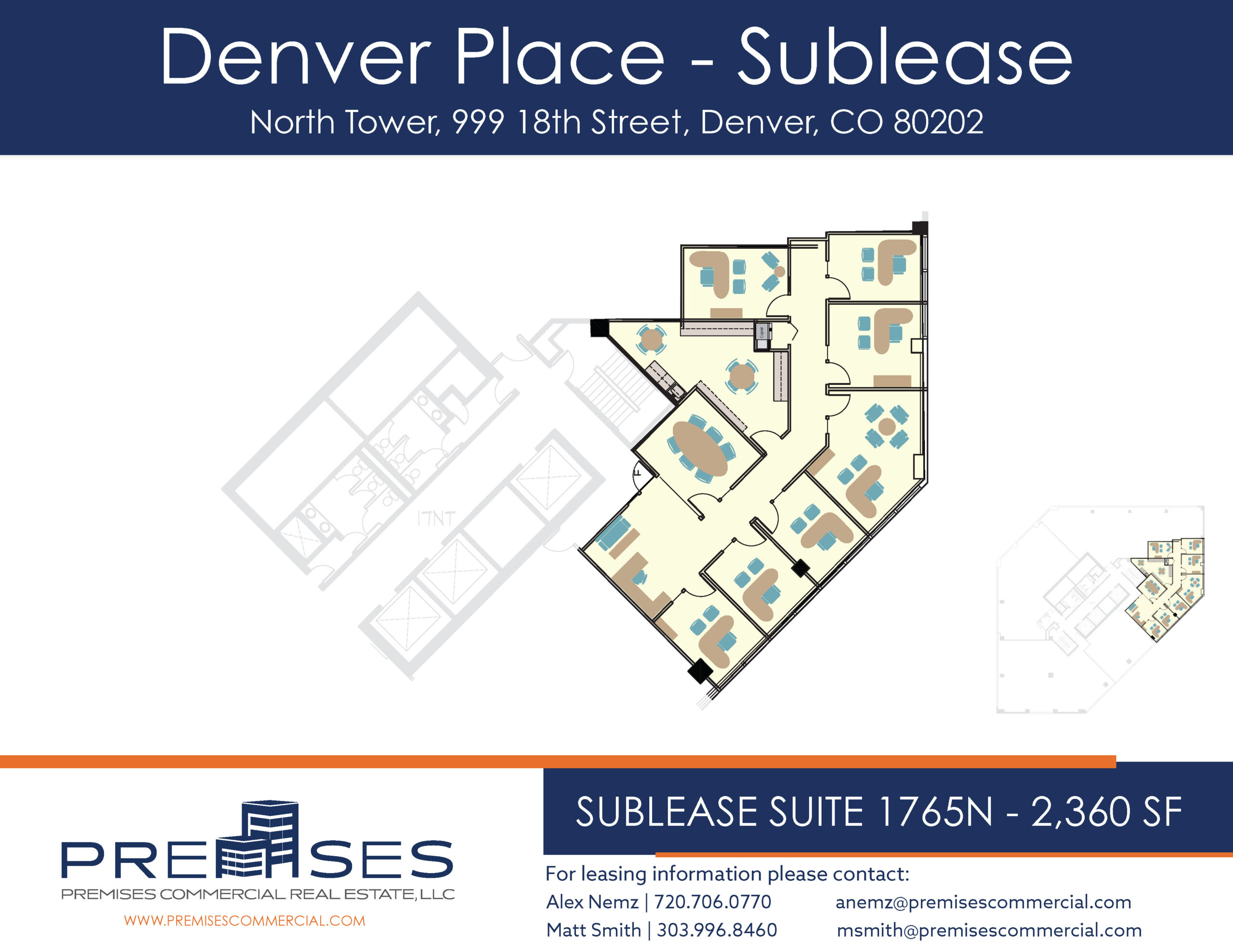 Sublease Suite 1765N - 2,360 sf